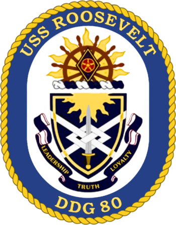 Coat of arms (crest) of the Destroyer USS Roosevelt