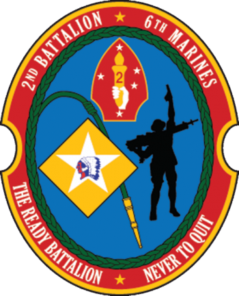 Coat of arms (crest) of the 2nd Battalion, 6th Marines, USMC