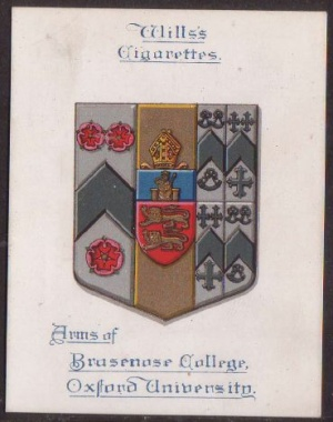 Arms of Brasenose College (Oxford University)