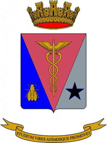 Coat of arms (crest) of the Administration School, Italian Army