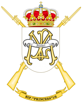 Coat of arms (crest) of the Protected Infantry Battalion Princesa I-2, Spanish Army