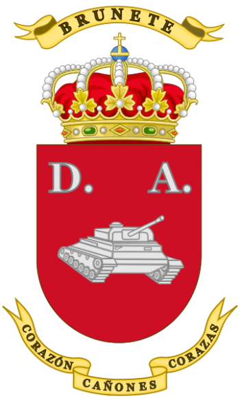 Coat of arms (crest) of the 1st Armoured Division Brunete, Spanish Army