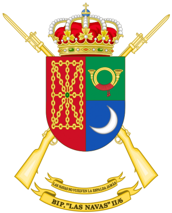 Coat of arms (crest) of the Protected Infantry Battalion Las Navas II-6, Spanish Army