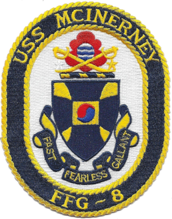 Coat of arms (crest) of the Frigate USS McInerney (FFG-8)