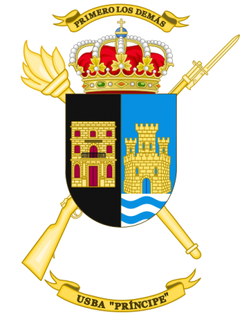 Coat of arms (crest) of the Base Services Unit Principe, Spanish Army