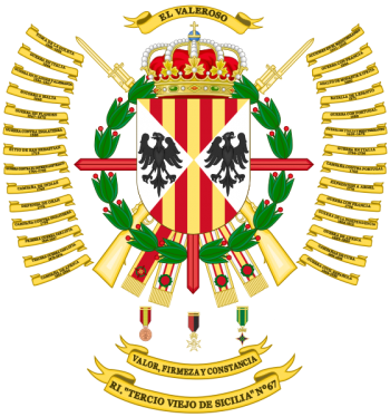 Coat of arms (crest) of the Infantry Regiment Tercio Viejo de Sicilia No 67, Spanish Army