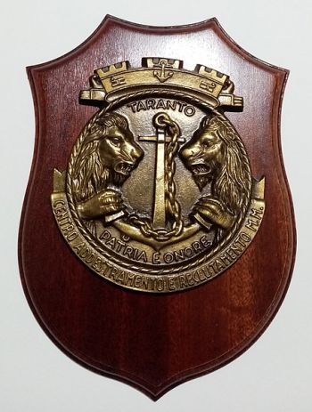 Coat of arms (crest) of the Naval Training and Recruting Center Taranto, Italian Navy