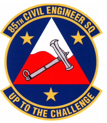 Coat of arms (crest) of the 85th Civil Engineer Squadron, US Air Force