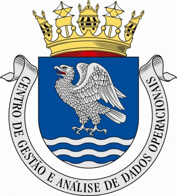 Coat of arms (crest) of the Operative Data Management and Analysis Center, Portuguese Navy