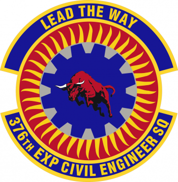 Coat of arms (crest) of the 376th Civil Engineer Squadron, US Air Force
