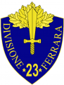 23rd Infantry Division Ferrara, Italian Army.png