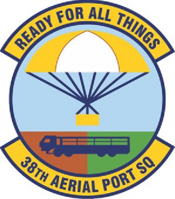 Coat of arms (crest) of the 38th Aerial Port Squadron, US Air Force