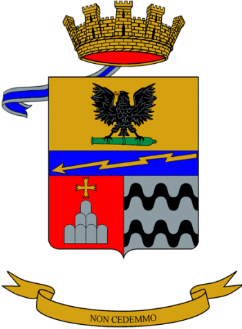 Coat of arms (crest) of the 184th Parachutist Artillery Regiment, Italian Army
