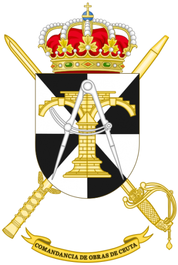 Coat of arms (crest) of the Ceuta Construction Command, Spanish Army