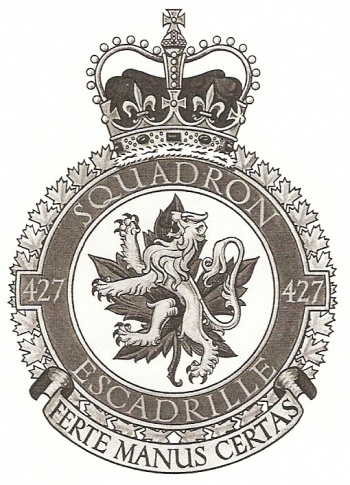 Coat of arms (crest) of the No 427 Squadron, Royal Canadian Air Force