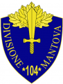 104th Infantry Division Mantova, Italian Army.png