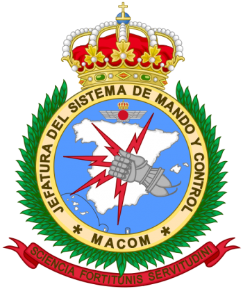 Coat of arms (crest) of the Chief of the Command and Control System, Spanish Air Force