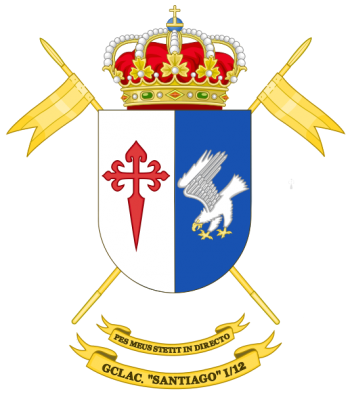 Coat of arms (crest) of the Light Armoured Cavalry Group Santiago I-12, Spanish Army
