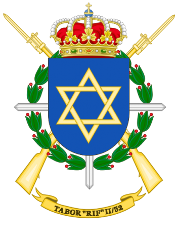 Coat of arms (crest) of the Tabor Rif II-52, Spanish Army