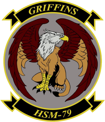 Coat of arms (crest) of the Helicopter Maritime Strike Squadron 79 (HSM-79) Griffins, US Navy