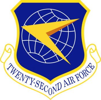 Coat of arms (crest) of the 22nd Air Force, US Air Force