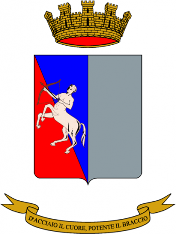 Coat of arms (crest) of the Centauro Divisional Logistics Battalion, Italian Army