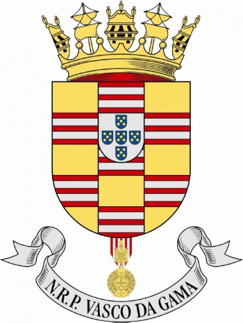Coat of arms (crest) of the Frigate NRP Vasco da Gama, Portuguese Navy
