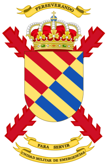 Coat of arms (crest) of the Military Emergencies Unit, Spain