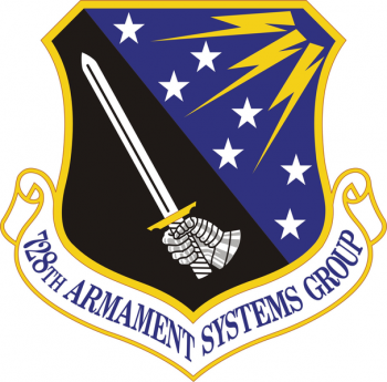 Coat of arms (crest) of the 728th Armament Systems Group, US Air Force
