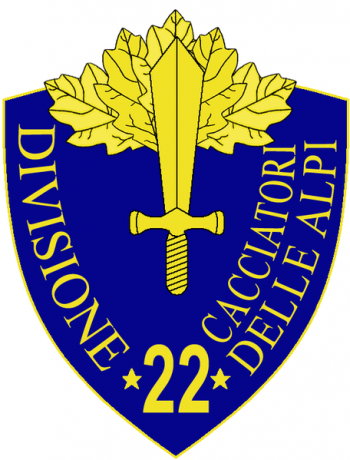 Coat of arms (crest) of the 22nd Infantry Division Cacciatori delle Alpi, Italian Army