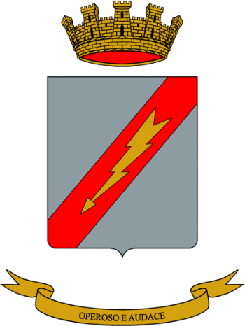 Coat of arms (crest) of the 5th Logistics Manouvre Battalion Euganeo, Italian Army