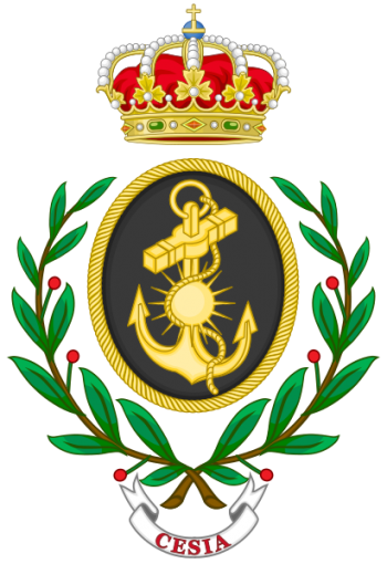Coat of arms (crest) of the Higher Military Logistics Studies Center of the Navy, Spanish Navy