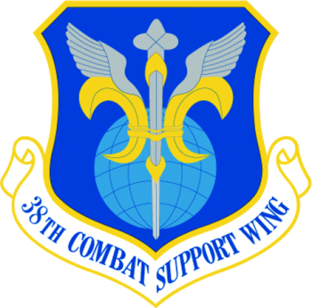 Coat of arms (crest) of the 38th Combat Support Wing, US Air Force