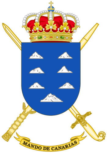 Coat of arms (crest) of the Canarias Forces Command, Spanish Army