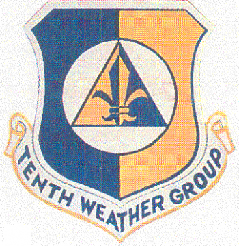Coat of arms (crest) of the 10th Weather Group, US Air Force