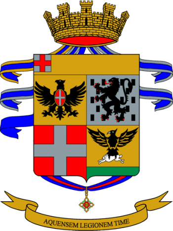 Coat of arms (crest) of the 17th Volunteer Administration Regiment Acqui, Italian Army
