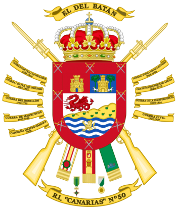 Coat of arms (crest) of the Infantry Regiment Canarias No 50, Spanish Army