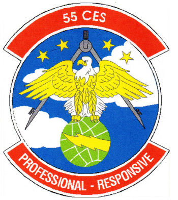 Coat of arms (crest) of the 55th Civil Engineer Squadron, US Air Force