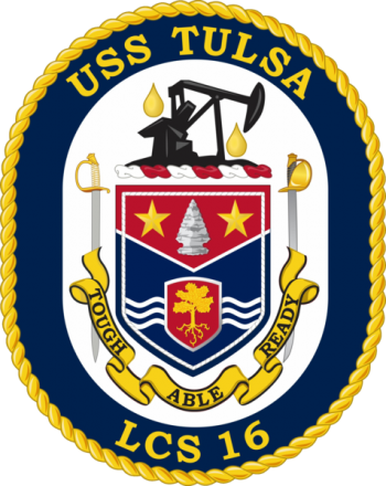 Coat of arms (crest) of the Littoral Combat Ship USS Tulsa (LCS-16)