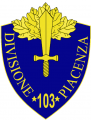 103rd Infantry Division Piacenza, Italian Army.png