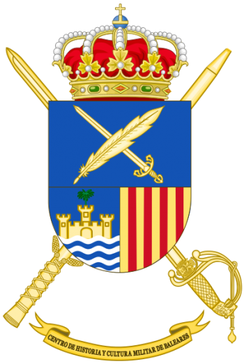 Coat of arms (crest) of the Military History and Culture Center Balearic Islands, Spanish Army