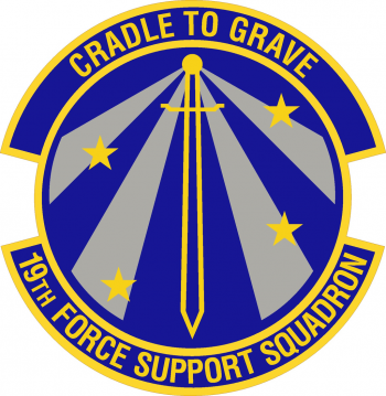 Coat of arms (crest) of the 19th Force Support Squadron, US Air Force