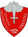 102nd Motorized Division Trento, Italian Army.png