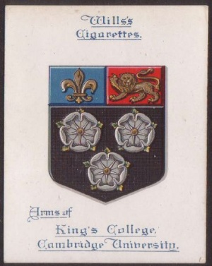 Arms of King's College (Cambridge University)