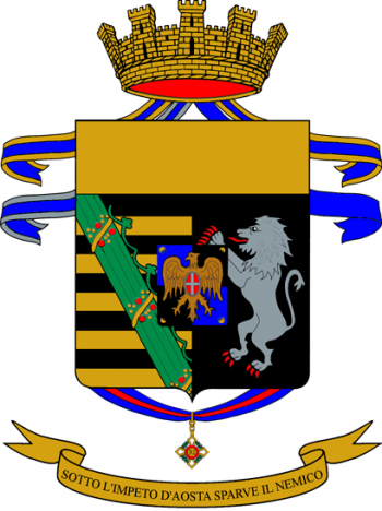 Coat of arms (crest) of the 5th Infantry Regiment Aosta, Italian Army