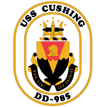 Coat of arms (crest) of the Destroyer USS Cushing (DD-985)