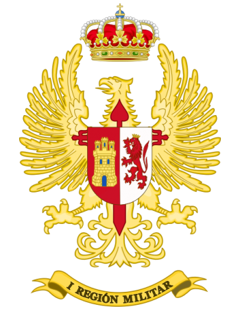 Coat of arms (crest) of the I Military Region, Spanish Army