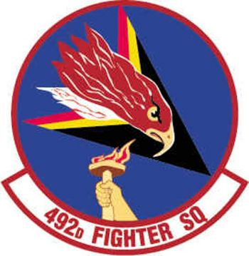 Coat of arms (crest) of the 492nd Fighter Squadron, US Air Force