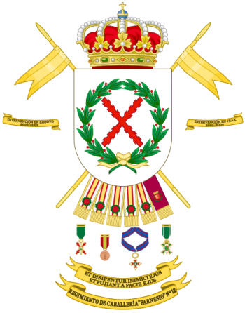 Coat of arms (crest) of the Cavalry Regiment Farnesio No 12, Spanish Army