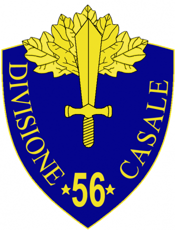 Coat of arms (crest) of the 56th Infantry Division Casale, Italian Army